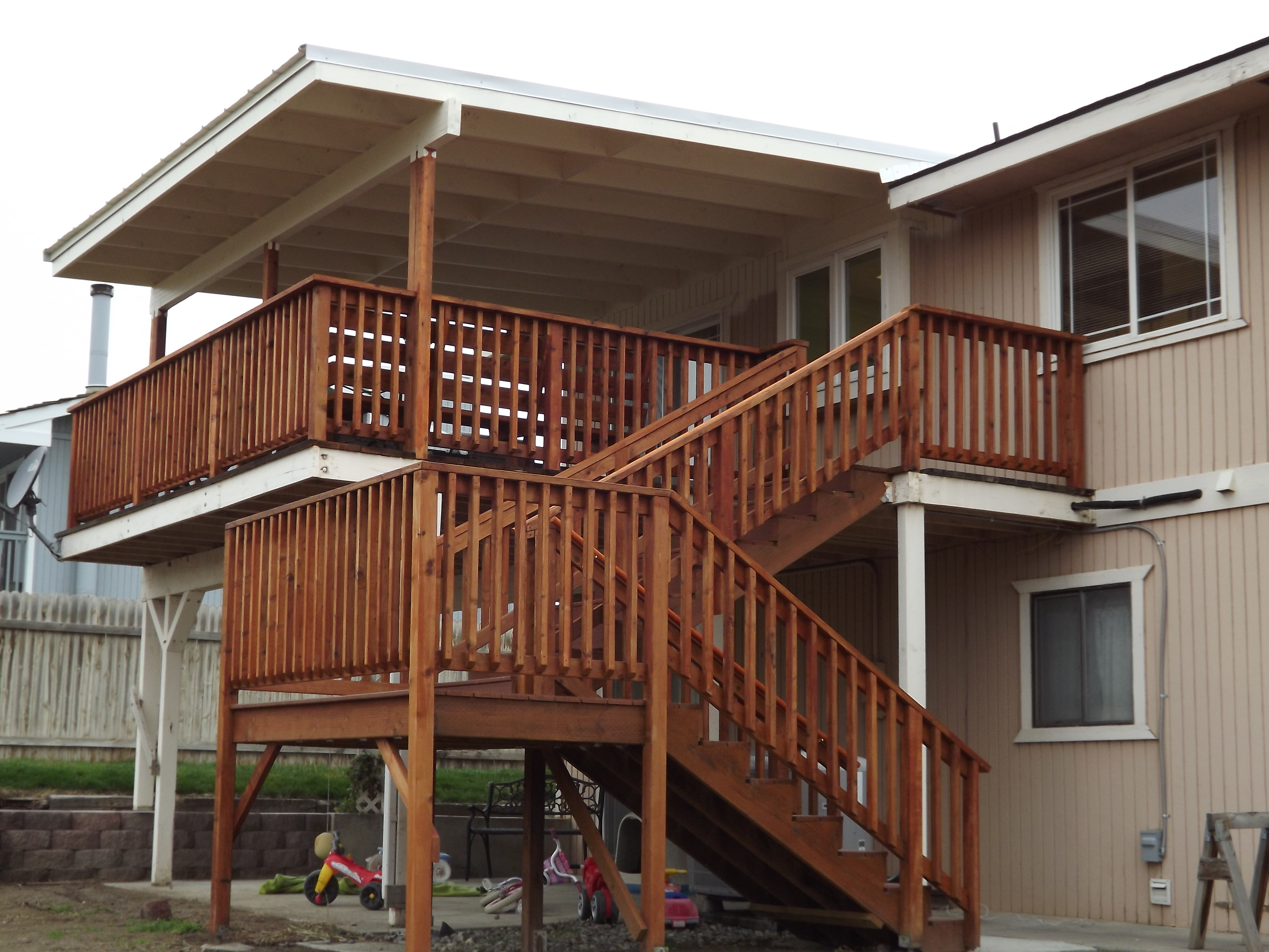 Covered Patio Deck Earmark Construction