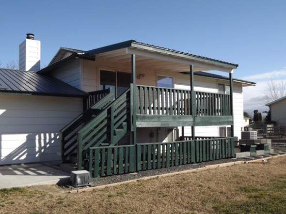 Covered deck after for Metal roof porch pictures